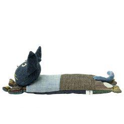 Liten värmekudde katt fylld med linfrön för barn från Afroart