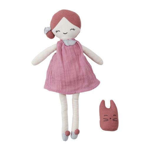Docka i ekologisk bomull och majsfiber Big doll Berry från Fabelab