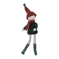 Docka tomtenisse i ekologisk bomull och majsfiber Elf boy från Fabelab
