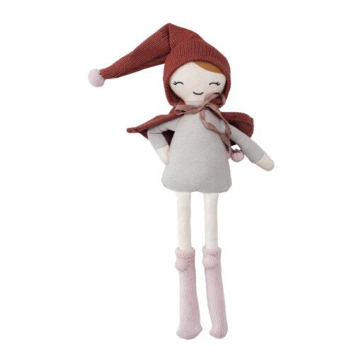 Docka tomtenissa i ekologisk bomull och majsfiber Elf girl från Fabelab