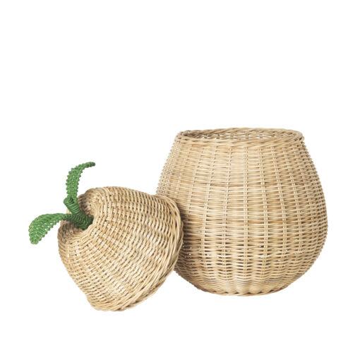 Flätad korg i form av ett päron från Ferm Living