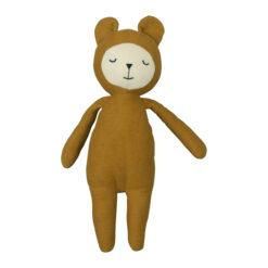 Ekologiskt gosedjur björn Buddy Bear senapsgul från Fabelab