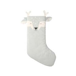 Julstrumpa i ekologisk bomull Shy fawn från Fabelab