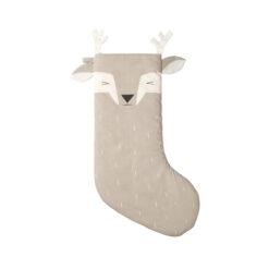 Julstrumpa i ekologisk bomull Sleepy deer från Fabelab