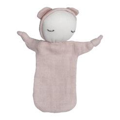 Snuttefilt i ekoloigisk GOTS-certifierad bomull Cuddel doll ljusrosa från Fabelab