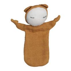 Snuttefilt i ekoloigisk GOTS-certifierad bomull Cuddel doll senapsgul från Fabelab