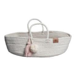 Moseskorg till dockorna i ekologisk bomull Rope basket från Fabelab