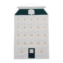 Julkalender Hus för paket i ekologisk bomull från Fabelab