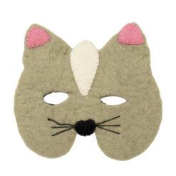 Djurmask Katt i tovad ull från Afroart