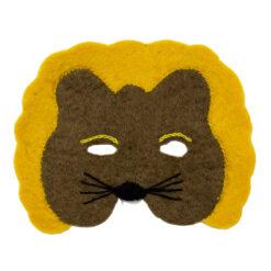 Djurmask Lejon i tovad ull från Afroart