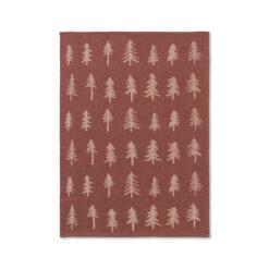 Kökshandduk till jul med granar i ekologisk bomull från Ferm Living