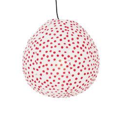 Lampskärm i tyg röd/vit med prickar Spot On drop XS från Afroart