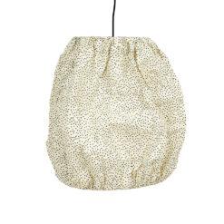 Lampskärm i papper Wrinkle S prickig från Afroart