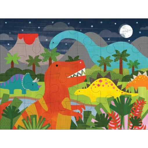 Golvpussel av återanvänt material Dinosaurier från Petit Collage
