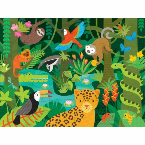 Golvpussel med djur Wild Rainforest från Petit Collage
