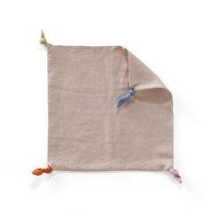 Snuttefilt med knutar i linne från Kid's Concept