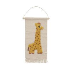 Väggbonad till barnrummet Giraff från OYOY