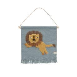 Väggbonad till barnrummet Lejon från OYOY