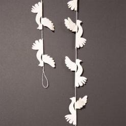 Girland Dove med duvor från Afroart
