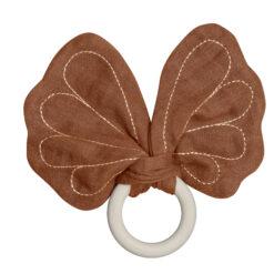 Bitring med fjäril Butterfly Cinnamon från Fabelab