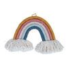 Väggbonad och väggdekoration som regnbåge av tvinnat garn Rope Rainbow från Fabelab