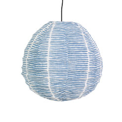 Lampskärm i tyg Lemongrass blå Drop XS från Afroart