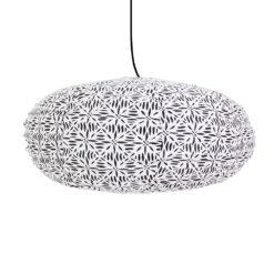 Lampskärm oval i tyg Stella från Afroart