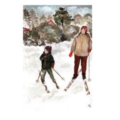 Månadskort januari med motiv av Kajsa Visual