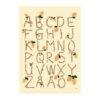 Poster ABC med bokstäver, alfabetet och citroner av Kajsa Visual eller Kajsa Hagelin