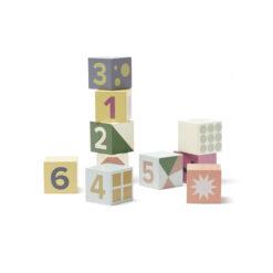 Träklossar med siffror 1-10 Edvin från Kids Concept