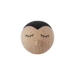 Väggkrok eller knopp med pingvin och panda i trä från OYOY
