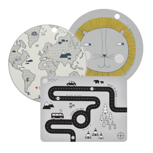Tallriksunderlägg till barn i silikon från OYOY
