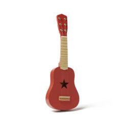 Barngitarr i trä. Lekgitarr röd Kids Concept.