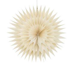 Julstjärna Star Frost i vitt papper från Afroart