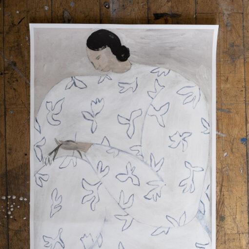Poster White Flower av Sofia Lind från Fine Little Day