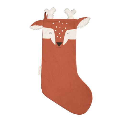 Julstrumpa i ekologisk bomull ren Animal Deer från Fabelab