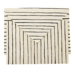 Handgjort randigt kort Striped från Afroart