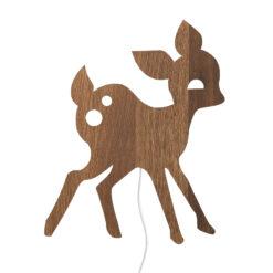 Vägglampa rådjur i ek My Deer smoked oak från Ferm Living
