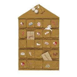 Paketkalender i ekologisk bomull med broderi från Fabelab