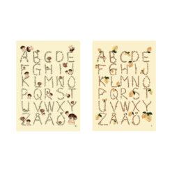 Poster ABC med bokstäver av Kajsa Hagelin eller Kajsa Visual som hon också kallas