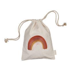 Presentpåse ekologisk bomull med regnbåge från Fabelab