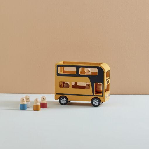 Dubbeldäckare buss i trä från Kids Concept