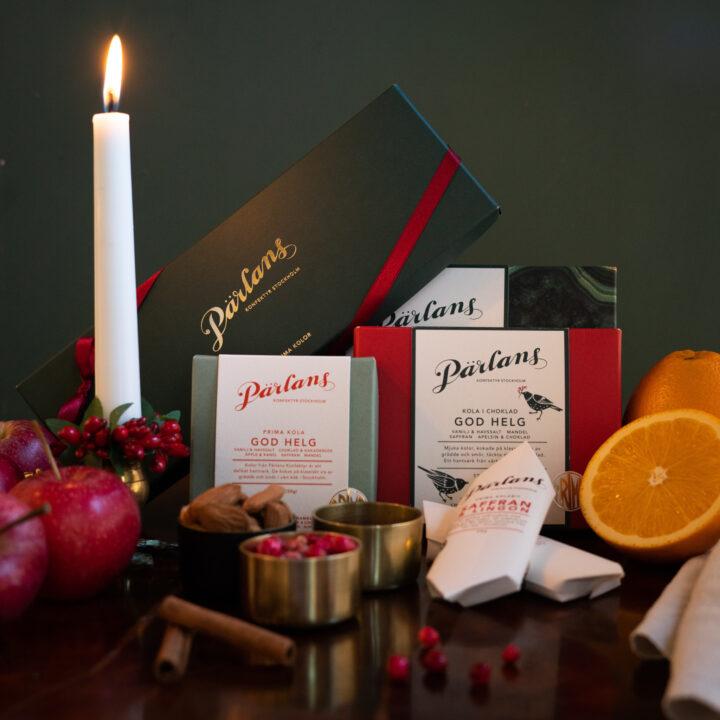 Julens smaker och kolor från Pärlans Konfektyr