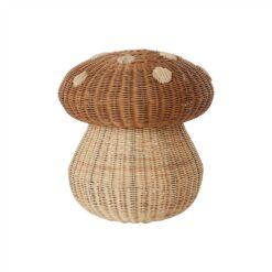 Flätad korg i rotting Svamp eller Mushroom från OYOY