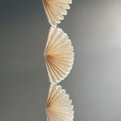 Girland i naturpapper Fold lace från Afroart
