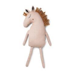 Kudde med häst Safari horse dusty rose gammelrosa från Ferm Living