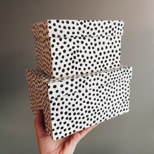 Prickiga lådor Dotted 2-pack från Afroart