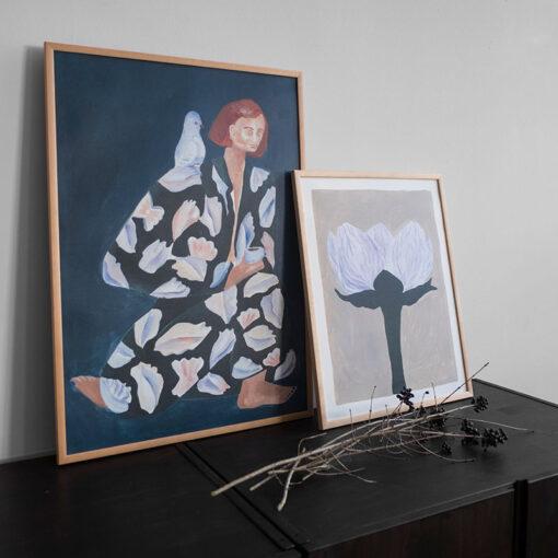 Poster Skrud Snäcka från Fine Little Day med motiv av Sofia Lind