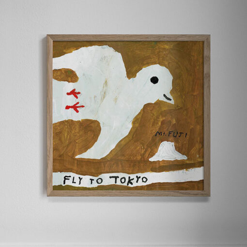 Poster Fly to Tokyo från Fine Little Day med motiv av Mogu Takahashi