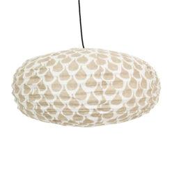 Lampskärm i tyg oval i mönstret Meringue från Afroart